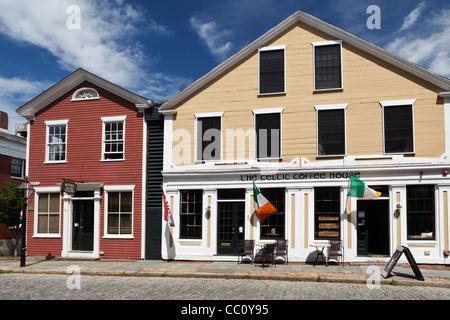 Historic Old Town New Bedford Massachusetts USA - Stock Photo