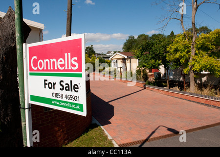 For sale sign outside a caravan on a static caravan park in England. - Stock Photo