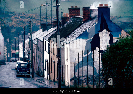 An oddly painted gable in Tinahealy Co Wicklow Ireland - Wizard - Stock Photo