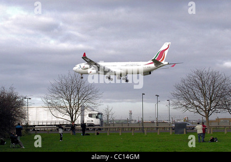 SriLankan Airlines Airbus A340 at Heathrow Airport, London, England. - Stock Photo