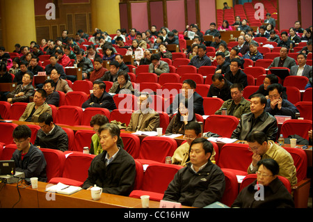 Cadre students attend a lecture in Beijing Communist Party School in Beijing, China. 21-Nov-2011 - Stock Photo