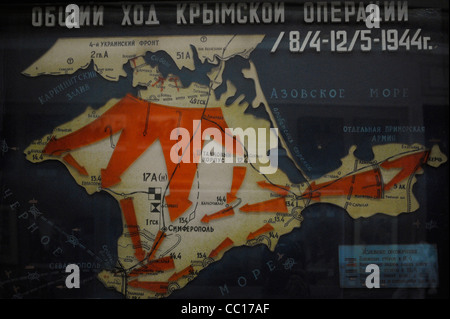 Second World War. The Crimean Offensive (8 April-12 May 1944) known as the Battle of Crimea. Map. - Stock Photo