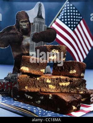 Walnut brownies - Stock Photo