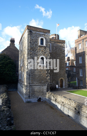 the jewel tower part of the original palace of westminster London England UK United kingdom - Stock Photo