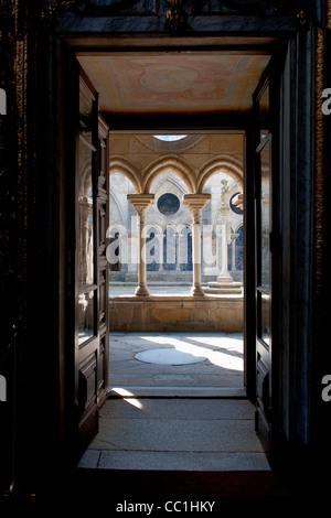 Da Sé Cathedral, Gothic cloister, Porto, Portugal, Unesco World Heritage Site - Stock Photo