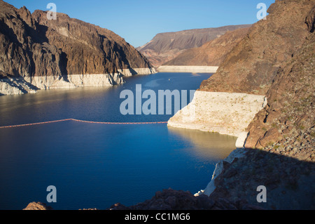 Lake Mead as seen from Hoover Dam area - Stock Photo