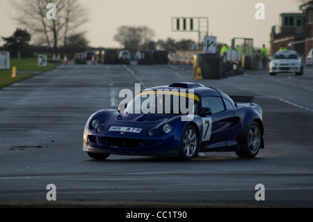 Christmas Stages Rally at Croft Circuit near Darlington in the UK January 2012 - Stock Photo