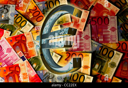 Euro Sign Euro Symbol In Front Of European Central Bank Ecb Stock