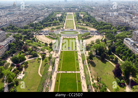 Paris, view from Eifell tower - Stock Photo