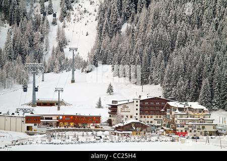 Hintertux ski lift station, Zillertal Valley, Tyrol, Austria - Stock Photo