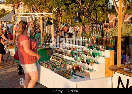 market on Mallory Square in Key West, Florida Keys, Florida, USA - Stock Photo