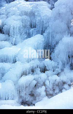 Ice fall background - Stock Photo