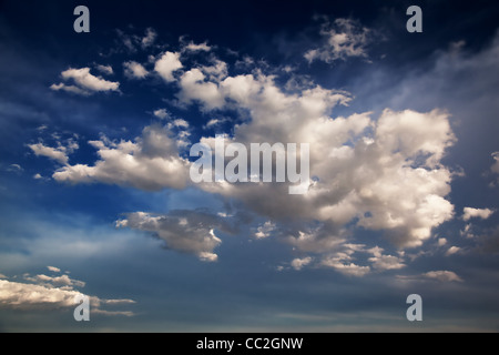 Blue Sky and clouds background - Stock Photo