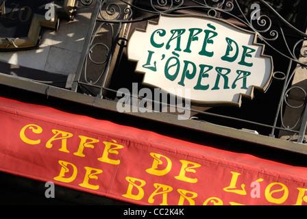 Barcelona, Spain. La Rambla. Cafe de l'Opera at No. 74 (1929) - Stock Photo