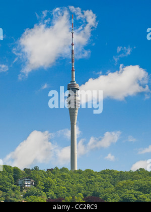 from 1963 to 1969 build television tower, 252 meters high, Dresden, Saxony, Germany, Europe - Stock Photo
