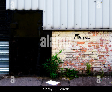 street view of old abandoned building - Stock Photo