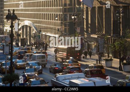 USA, New York City, Street scene - Stock Photo