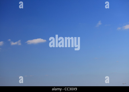 cloud in blue sky nobody nature background - Stock Photo