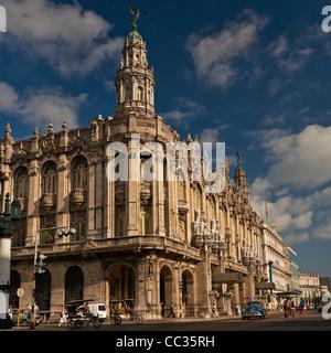 Gran Teatro de la Habana. Home to Ballet Nacional de Cuba and Cuban National Opera. Neobaroque building in Central - Stock Photo