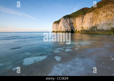 Thornwick Bay near to Flamborough on the Yorkshire Coast - Stock Photo