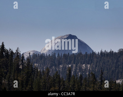 Half Dome in Yosemite National Park, California, seen from Olmsted Point on the Tioga Road - Stock Photo