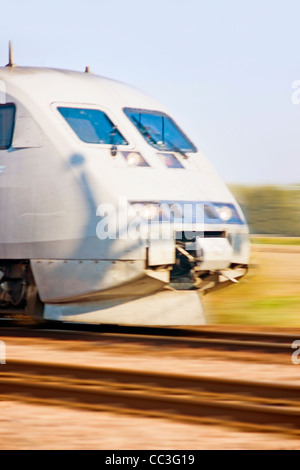 High speed train (motion blur) - Stock Photo