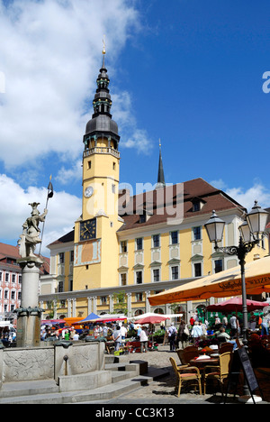 City hall of the historical old town of Bautzen. - Stock Photo
