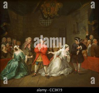 The Beggar's Opera by William Hogarth, 1728, City Art Gallery, Birmingham city centre, West Midlands, England, United - Stock Photo