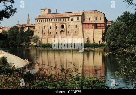 Lombardy Cassano D'Adda Castello Borromeo D'Adda - Stock Photo