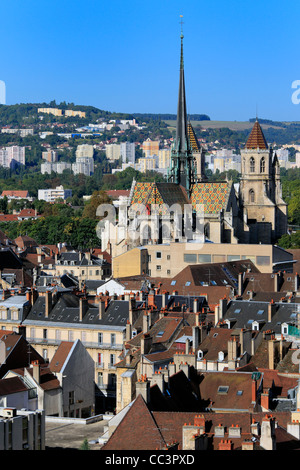 View of city from Philippe le Bon Tower, Dijon, Côte-d'Or departement, Burgundy, France - Stock Photo