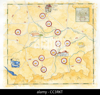 Gastronomic Germany Map Drawing Stock Photo Royalty Free Image - Germany map drawing