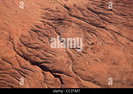 Dried river bed, Namib Desert, Namib Naukluft National Park, Namibia - Stock Photo
