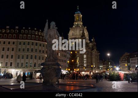 Christmas market in Dresden. Saxony, Germany, Europe - Stock Photo