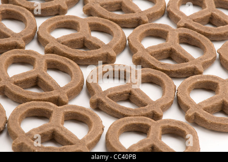 Chocolate flavored pretzels - Stock Photo