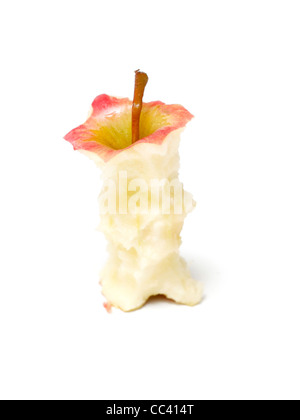 An isolated apple core - Stock Photo