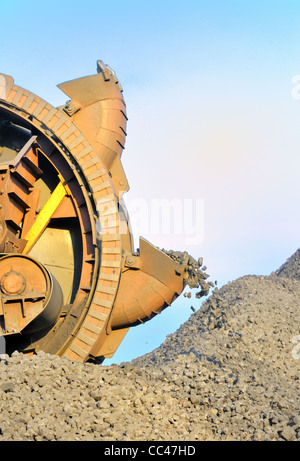 bucket wheel excavator for digging the brown coal - Stock Photo