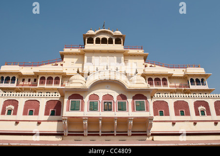 Chandra Mahal, the residence of the royal family, City Palace, Jaipur, India - Stock Photo