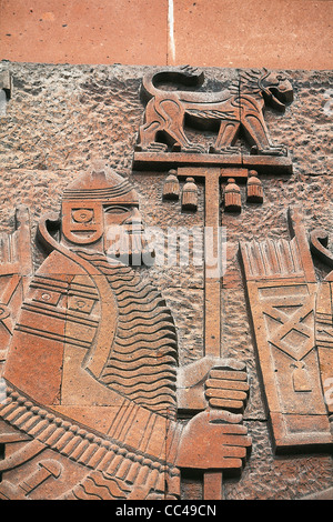 Armenia - Yerevan. Erebuni Fortress Museum. Bas-Relief - Stock Photo