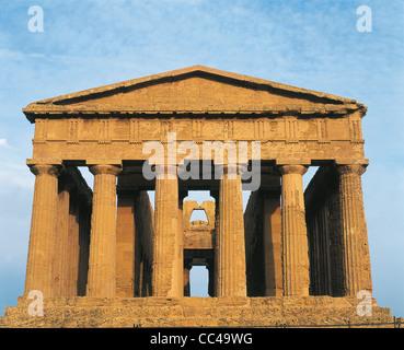 Agrigento Temple Of Concordia 5th Century Ac - Stock Photo