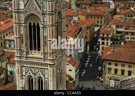 Campanile - Bell Tower, Florence city - Stock Photo