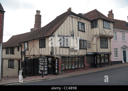 The Fifteenth Century Bookshop in Lewes, East Sussex, UK. - Stock Photo
