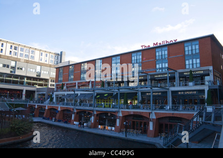 Birmingham West Midlands Bars Ramada Hotel and Restaurants of The Mailbox redeveloped from old Royal Mail Sorting - Stock Photo