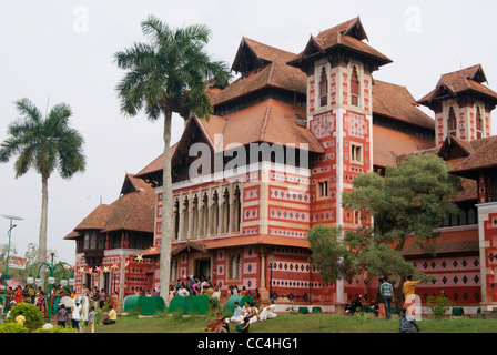 Beautiful Napier Palace Museum in New year Holidays - Stock Photo