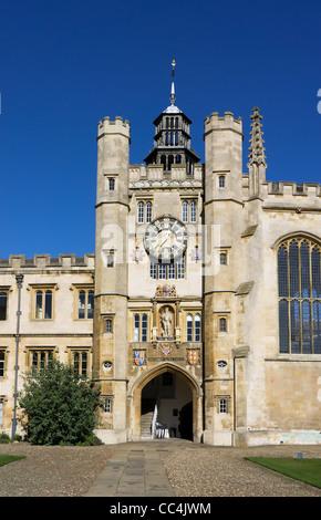 Entrance to the chapel of Trinity College, Cambridge University. - Stock Photo