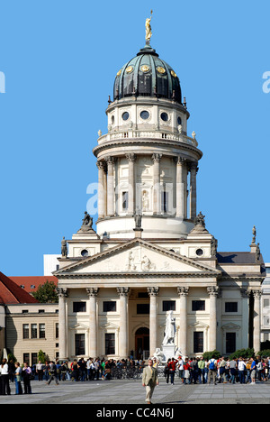 French Cathedral on the Gendarme Market in Berlin. - Stock Photo