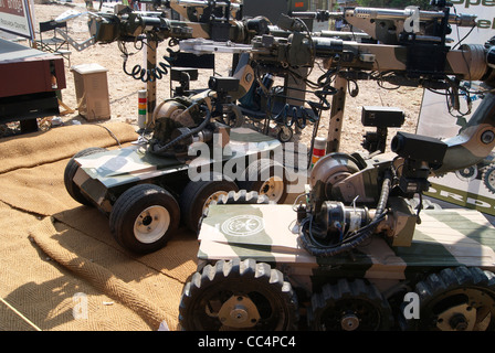 Remotely controlled Daksh Robots of Indian Army developed by Defence Research and Development Organisation ( DRDO - Stock Photo