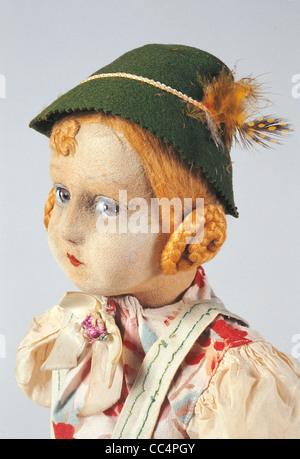 Collecting Toys Twentieth Century. lpine Doll. Years 30/40. Height 50Cm. Particular