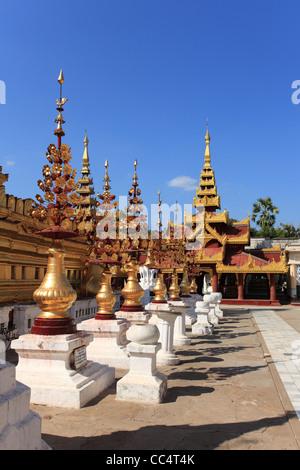Shwezigon Pagoda, Bagan, Myanmar - Stock Photo