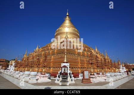 Shwezigon Pagoda, Bagan - Stock Photo
