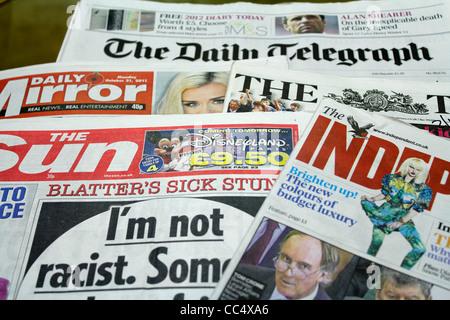 British newspaper - Stock Photo